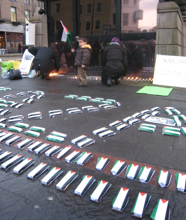 Art display symbolising dead Palestinians