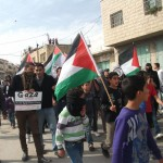 Beit Ommar marches in solidarity with Gaza