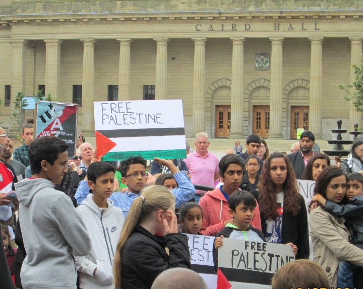 Protest in Dundee against the Israeli bombing of Gaza (12 July 2014)